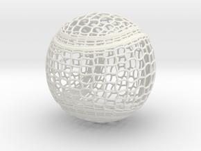 Tennis Ball Curve Wire Mesh in White Natural Versatile Plastic