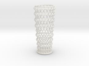 Vase 1219 in White Natural Versatile Plastic