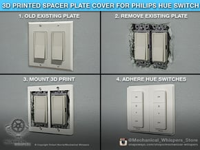 Philips Hue Dimmer Double Gang Plate (US Decora) in White Natural Versatile Plastic