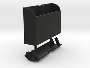 Box-No-Hinge in Black Natural Versatile Plastic