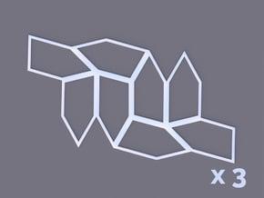 Type 8 Pentagon 8-Unit x3 in White Natural Versatile Plastic