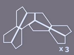 Type 13 Pentagon 8-Unit x3 in White Natural Versatile Plastic