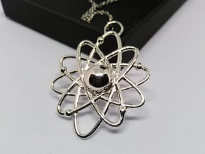 Atom Pendant in Polished Silver