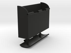 Box-Hinged in Black Natural Versatile Plastic