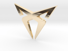 "Leon Cupra Bootlatch ""S"" Badge - Logo Part in 14k Gold Plated Brass"