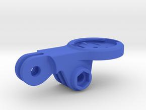Garmin Mid GoPro BMC Mount in Blue Processed Versatile Plastic