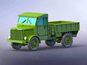 Borgward B2000 Flatbed Truck open 1/144 in Smooth Fine Detail Plastic