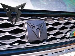"Facelift Cupra Front ""S"" Badge - Logo Part in White Natural Versatile Plastic"