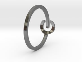 POWER ring in Polished Silver: 4 / 46.5