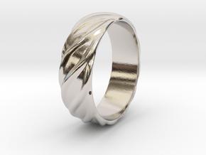 Ringo - Ring in Rhodium Plated Brass: 6 / 51.5