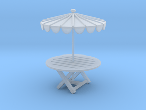 Printle Thing Picnic Table - 1/48 in Smooth Fine Detail Plastic