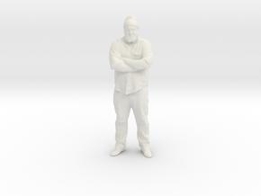 Walt 3D in White Natural Versatile Plastic