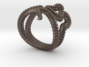 snake ring size 10 in Polished Bronzed-Silver Steel