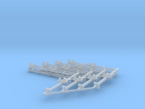 N Scale Crossing Gantry 2 lanes 4pc LED in Smooth Fine Detail Plastic