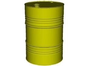 1/12 scale petroleum 200 lt oil drum x 1 in Smooth Fine Detail Plastic