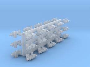 N-scale Westinghouse KC brake cylinders (30) as us in Smoothest Fine Detail Plastic
