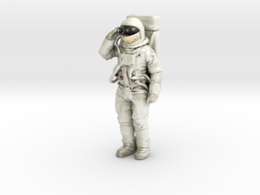 "Full 6"" (152.4mm) full color saluting Buzz Aldrin in Glossy Full Color Sandstone"