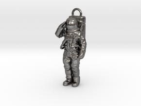 Metal or Plastic Saluting Neil or Buzz Key Fob in Polished Nickel Steel
