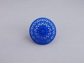 Motif Ring in Blue Processed Versatile Plastic