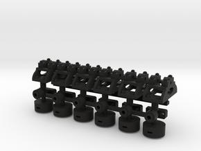 1 13 7 Lever X6 Fixed in Black Natural Versatile Plastic