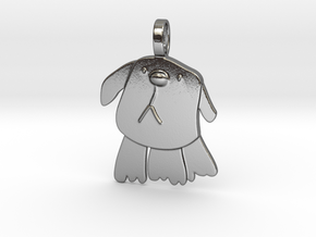 Doggy Pendant in Polished Silver