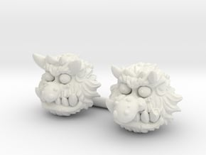 Bugbear Head (Multiple Sizes) in White Natural Versatile Plastic: Small
