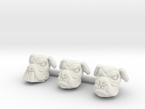 IronJaw McGrrraw Head (Multisize) in White Natural Versatile Plastic: Extra Small