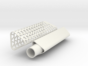 Triangle exhaust pipe in White Natural Versatile Plastic