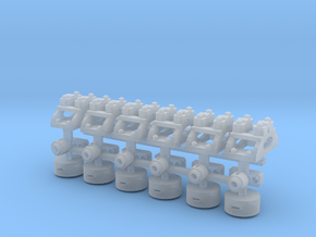1:43.5 Decauville Point Lever X6 in Smooth Fine Detail Plastic