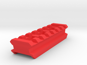 Top Picatinny Rail (7-Slots) for X-Shot Fury 4 in Red Processed Versatile Plastic