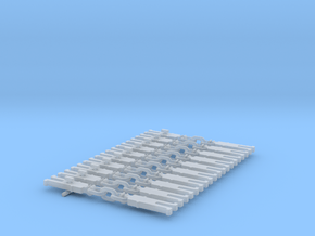NEM OO Type 16 Couplings - Strait 3 Link x10 in Smooth Fine Detail Plastic
