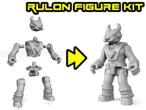 Dino-Riders Rulon Figure Kit in White Natural Versatile Plastic: Medium