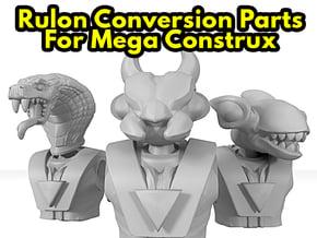 Dino-Riders Rulons (Mega-Construx) in White Natural Versatile Plastic: Small