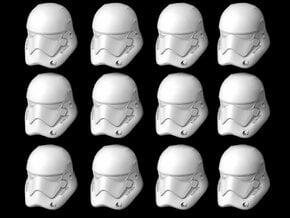(Legion) 12x First Order Stormptrooper Helmets in Smooth Fine Detail Plastic