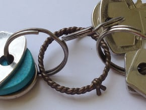 Rope || Keychain Holder in Polished Bronzed Silver Steel