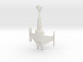 Klingon D20 in White Natural Versatile Plastic