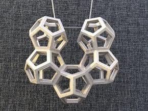 Dodecahedron Pendant Type B in White Natural Versatile Plastic: Medium