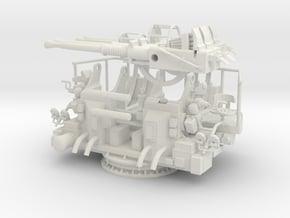 1/30 USN 40mm Quad Bofors KIT in White Natural Versatile Plastic