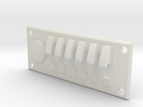 Scale Built Switch Panel for RC Crawler in White Natural Versatile Plastic