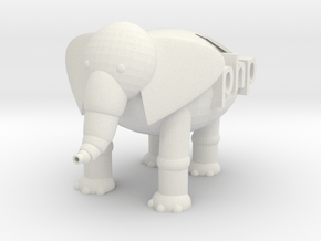 Tiny PHP Elephant  in White Natural Versatile Plastic