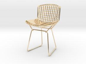 """Knoll Bertoia Side Chair 3.9"""" tall in 14K Yellow Gold"""