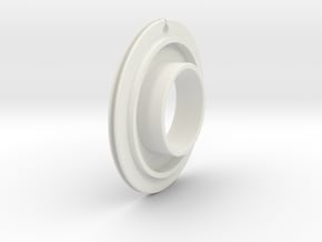 Small Toothed Friction ring in White Natural Versatile Plastic