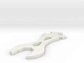 3D printed Sample Model Cube 1.95cm in White Natural Versatile Plastic: Small