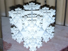Star Tetrahedron Fractal v2 in Natural Sandstone