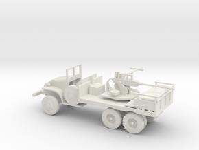 1/72 Scale GMS CCKW 40mm Gun Truck  in White Natural Versatile Plastic