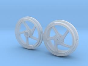 916 5 Spoke Motorcycle Wheels in Smooth Fine Detail Plastic