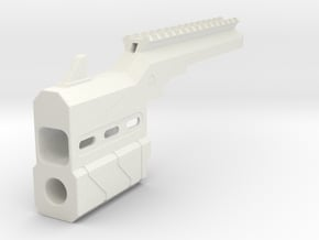 Proctor Barrel Mod with Top Rail for HammerShot in White Natural Versatile Plastic