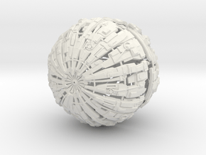 Massive Cyborg Sphere in White Natural Versatile Plastic