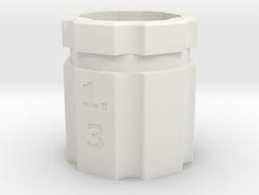dop-draaier-insert-pipet-hex_3 in White Natural Versatile Plastic