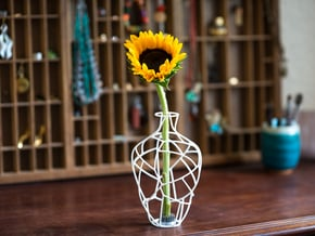 Inverse Broken Vase - Large in White Natural Versatile Plastic